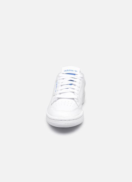 Baskets adidas originals Continental 80 W Blanc vue portées chaussures