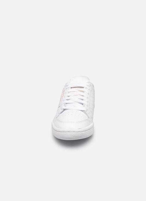 Deportivas adidas originals Continental 80 W Blanco vista del modelo