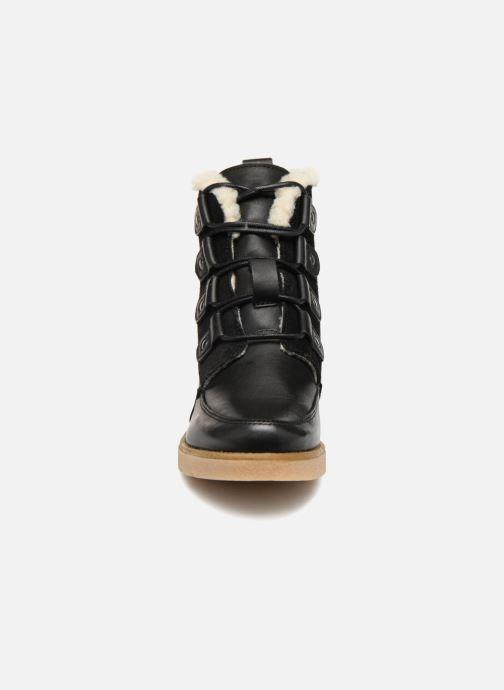 Bottines et boots Vero Moda VmAne leather boot Noir vue portées chaussures