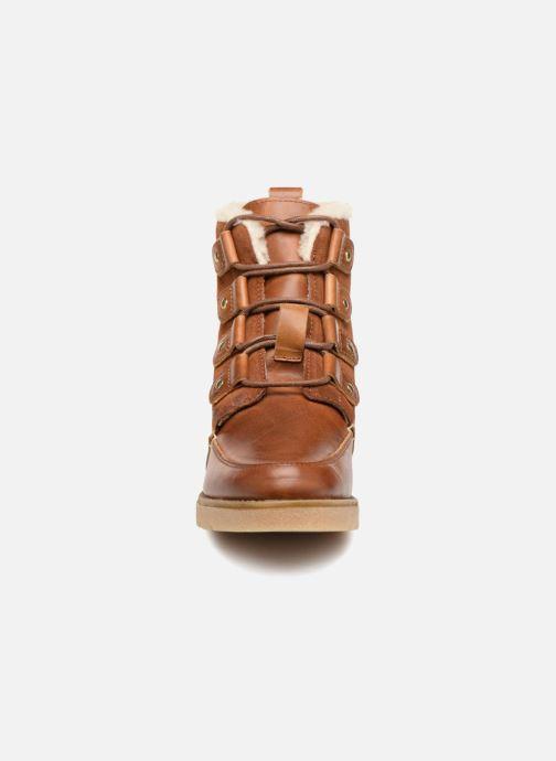 Ankle boots Vero Moda VmAne leather boot Brown model view