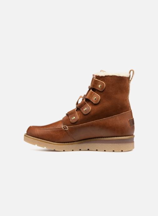 Ankle boots Vero Moda VmAne leather boot Brown front view
