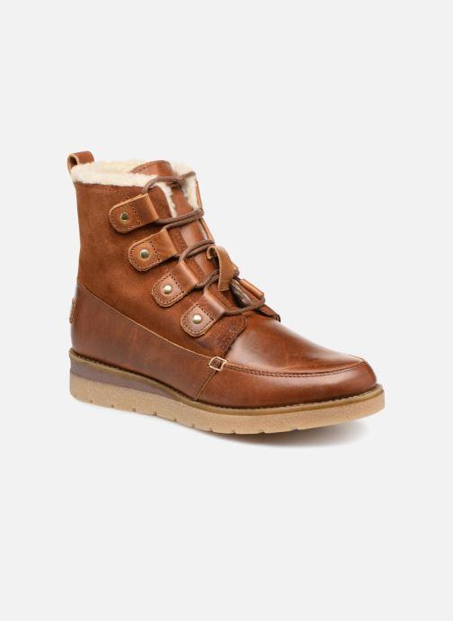 Bottines et boots Vero Moda VmAne leather boot Marron vue détail/paire