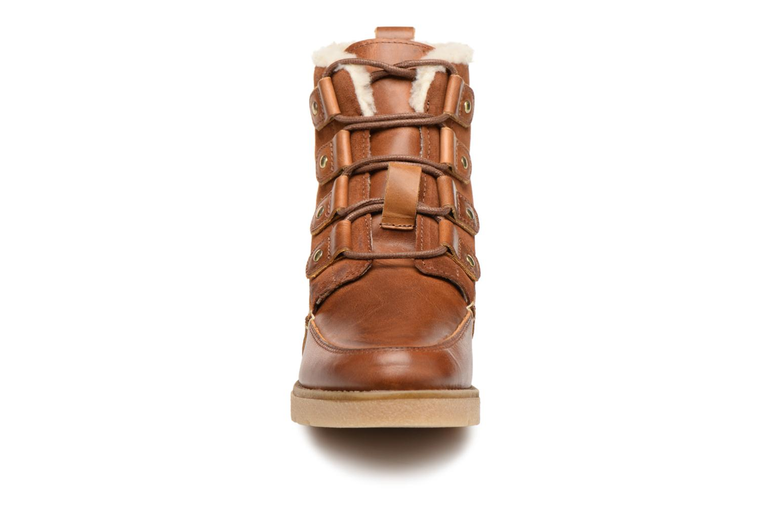 Ankle boots Vero Moda VmAne leather boot Brown model view