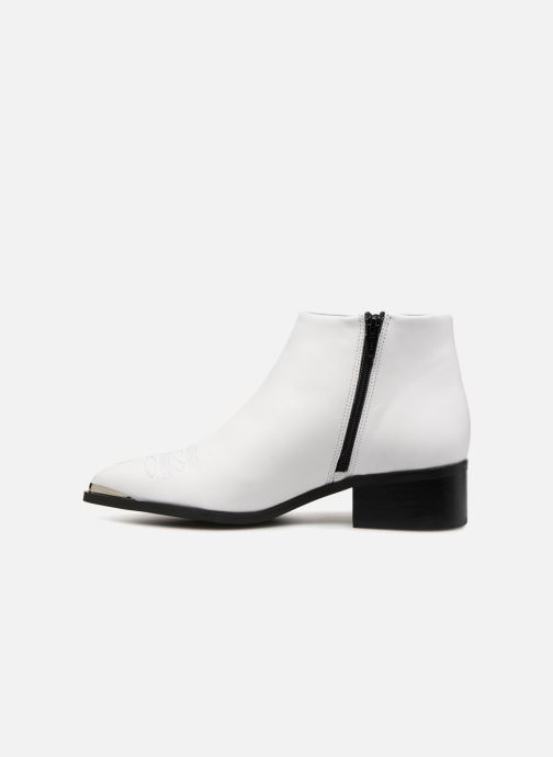 Bottines et boots Vero Moda VmBella leather boot Blanc vue face