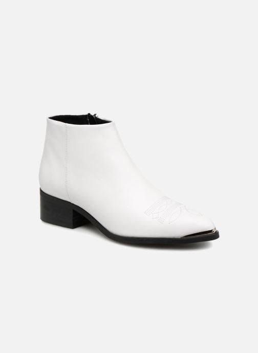 Bottines et boots Vero Moda VmBella leather boot Blanc vue détail/paire