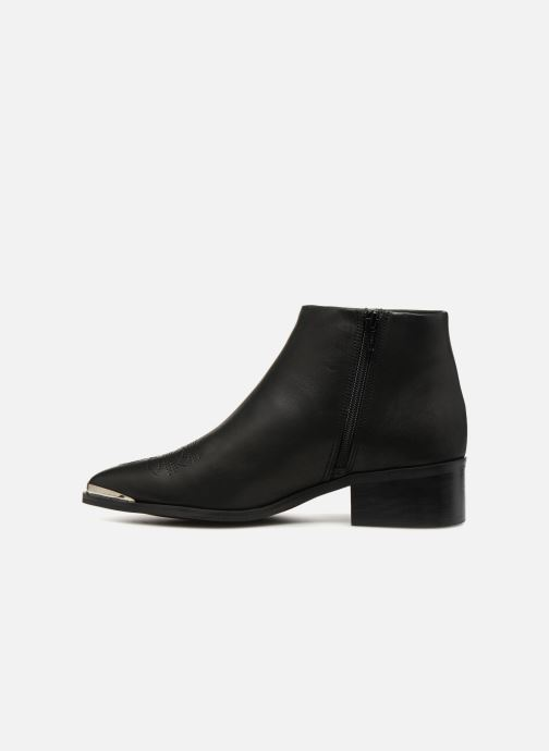 Ankelstøvler Vero Moda VmBella leather boot Sort se forfra