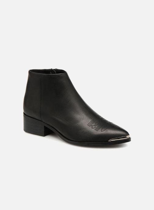 Ankelstøvler Vero Moda VmBella leather boot Sort detaljeret billede af skoene