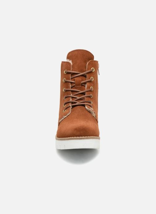 Bottines et boots Vero Moda VmMella leather boot Marron vue portées chaussures