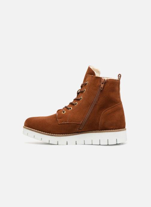 Boots en enkellaarsjes Vero Moda VmMella leather boot Bruin voorkant
