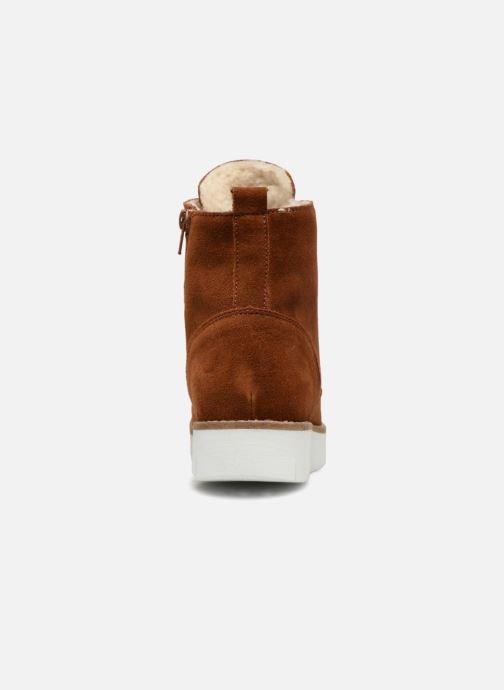 Bottines et boots Vero Moda VmMella leather boot Marron vue droite