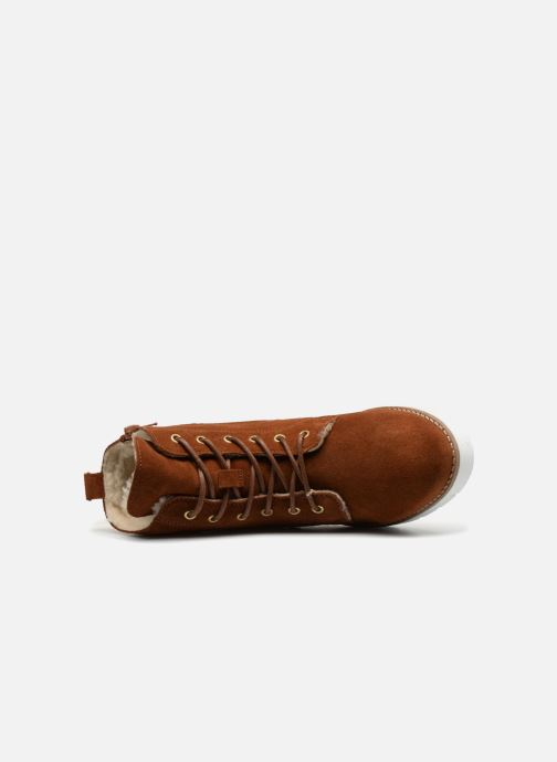 Ankle boots Vero Moda VmMella leather boot Brown view from the left