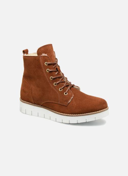 Bottines et boots Vero Moda VmMella leather boot Marron vue détail/paire