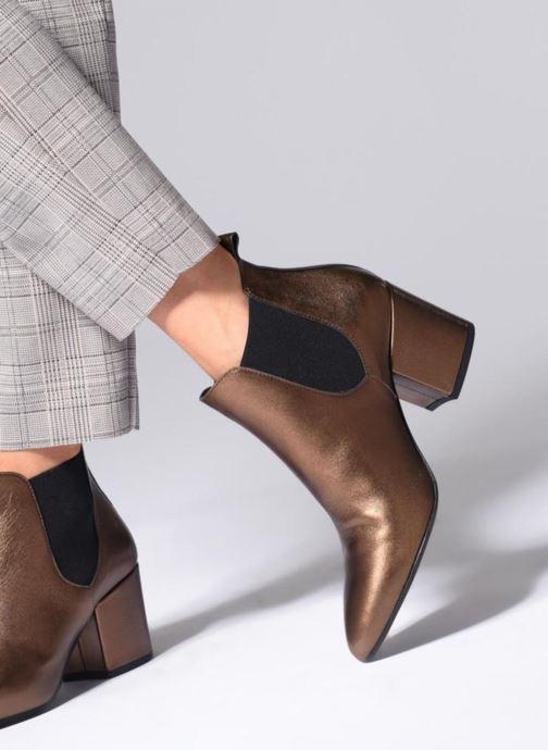 Bottines et boots Vero Moda VmNice leather boot Or et bronze vue bas / vue portée sac