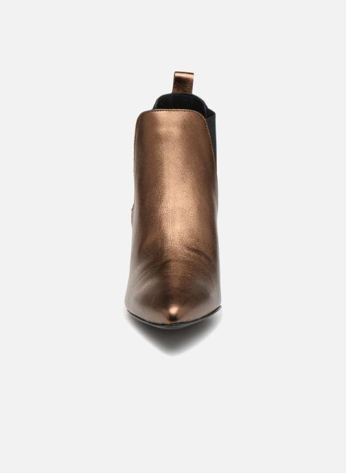 Bottines et boots Vero Moda VmNice leather boot Or et bronze vue portées chaussures