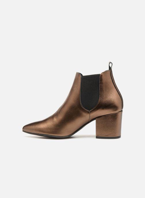 Bottines et boots Vero Moda VmNice leather boot Or et bronze vue face
