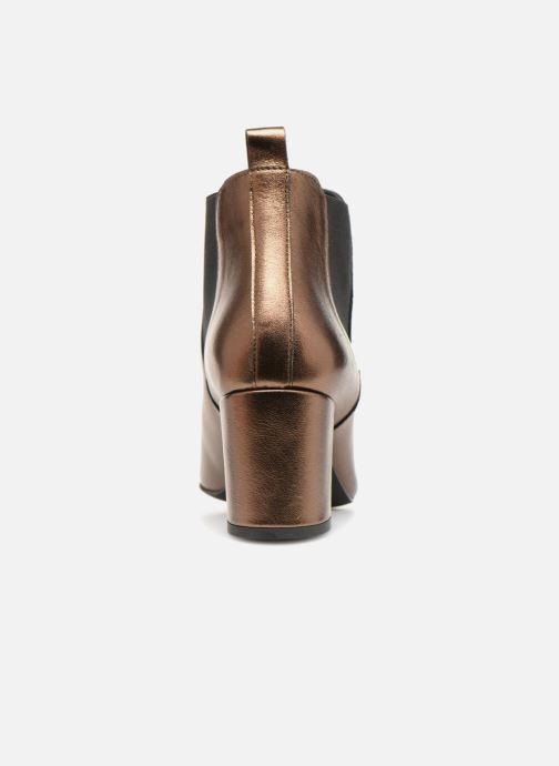 Bottines et boots Vero Moda VmNice leather boot Or et bronze vue droite