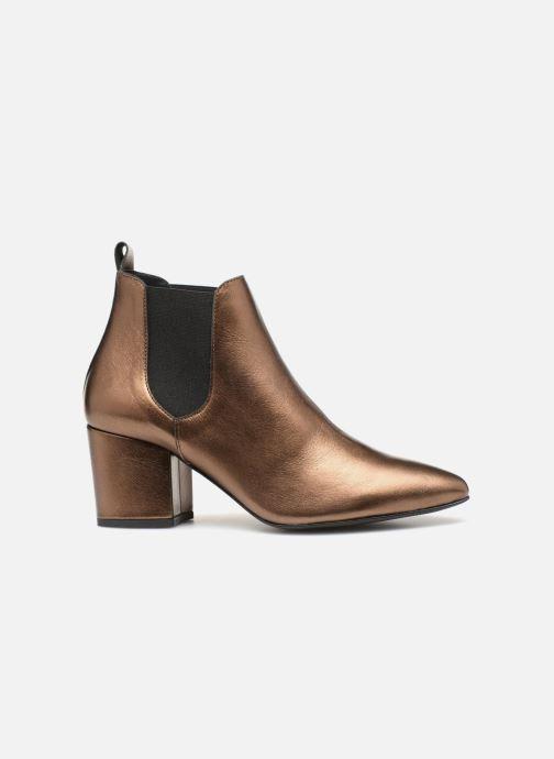 Bottines et boots Vero Moda VmNice leather boot Or et bronze vue derrière