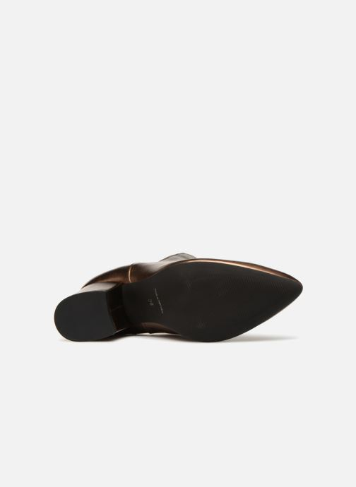 Bottines et boots Vero Moda VmNice leather boot Or et bronze vue haut