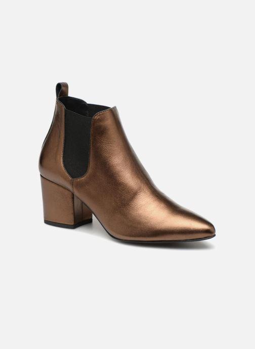 Bottines et boots Vero Moda VmNice leather boot Or et bronze vue détail/paire