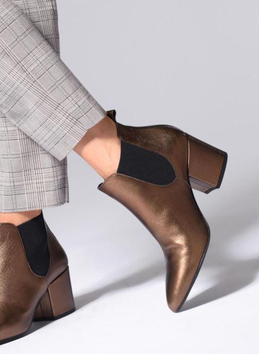 Ankelstøvler Vero Moda VmNice leather boot Sølv se forneden