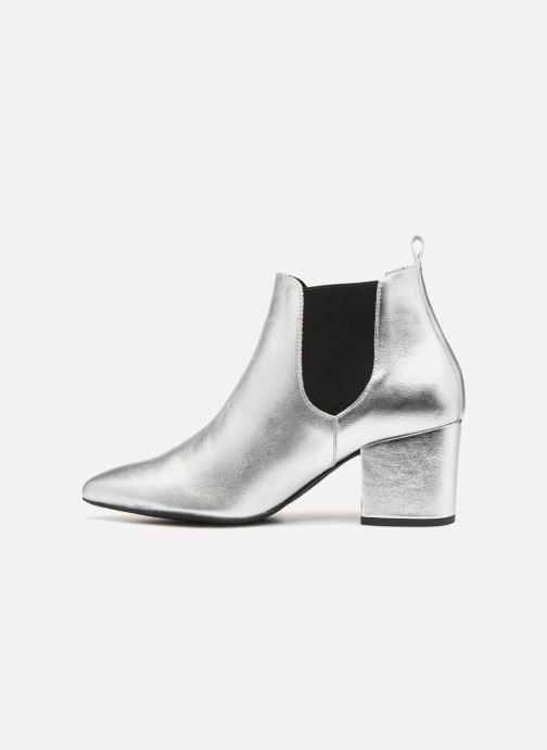 Boots en enkellaarsjes Vero Moda VmNice leather boot Zilver voorkant