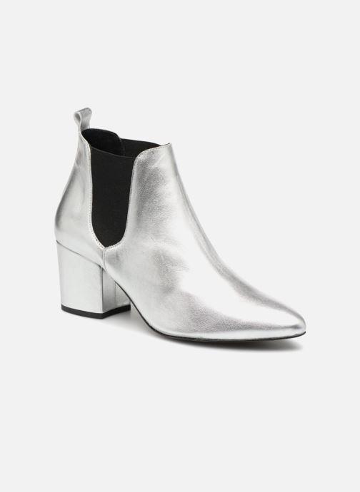 Ankelstøvler Vero Moda VmNice leather boot Sølv detaljeret billede af skoene