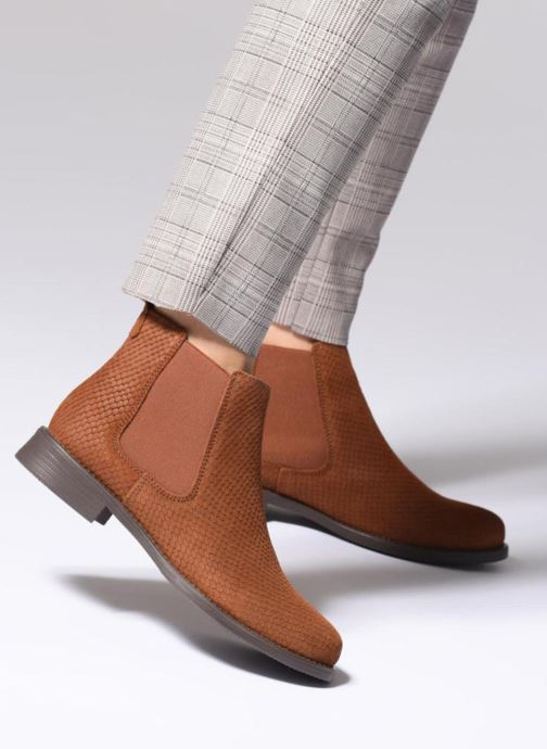 Bottines et boots Vero Moda VmNilla Leather boot Marron vue bas / vue portée sac
