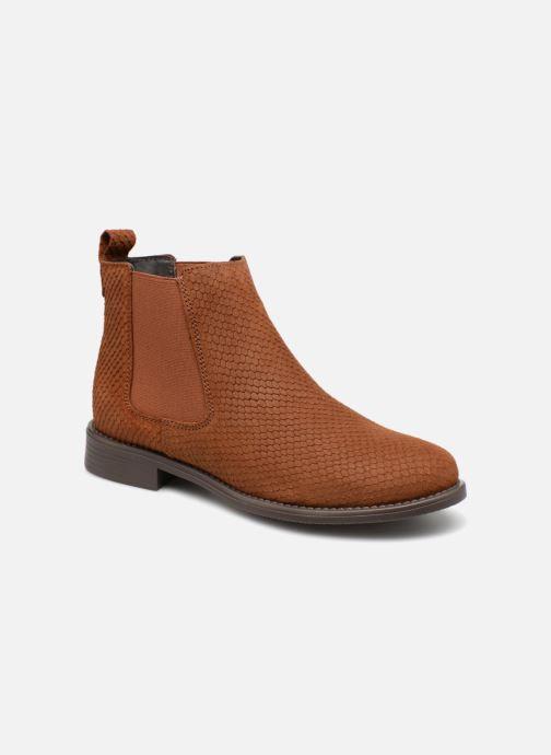 Bottines et boots Vero Moda VmNilla Leather boot Marron vue détail/paire