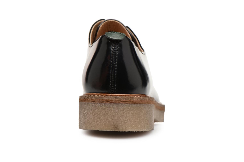 Snörade skor Kickers OXFORK Svart Bild från höger sidan