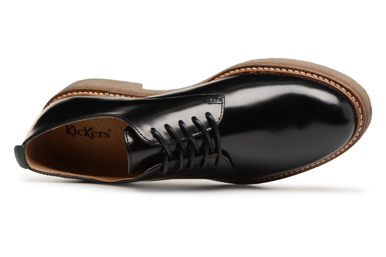 Snörade skor Kickers OXFORK Svart bild från vänster sidan