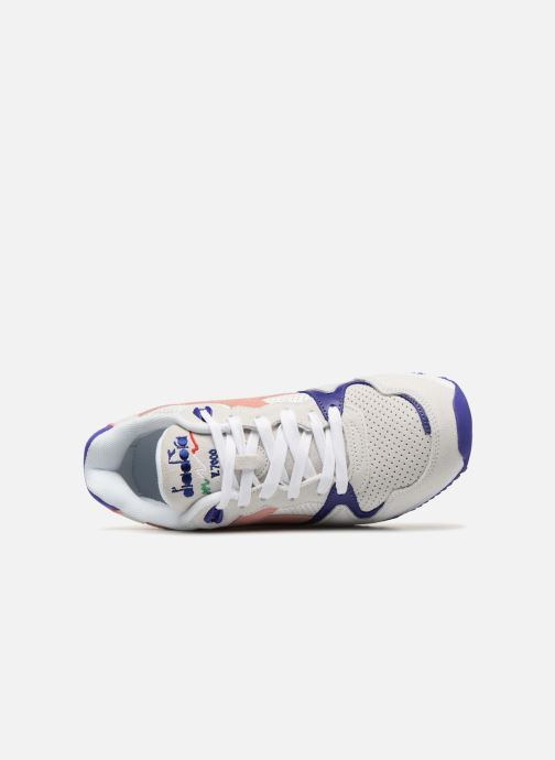 Trainers Diadora V7000 Premium W Grey view from the left