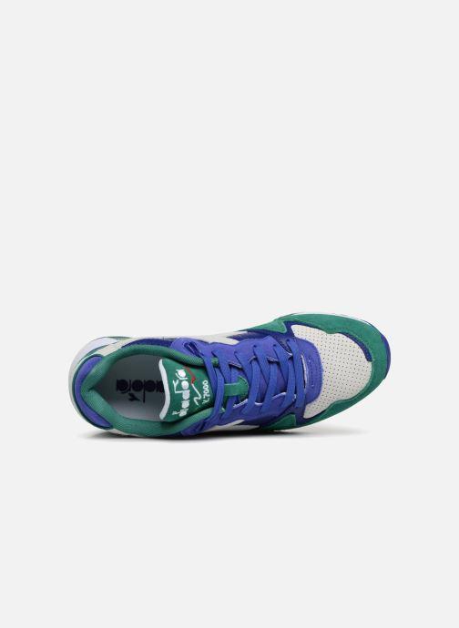 Baskets Diadora V7000 Premium Vert vue gauche