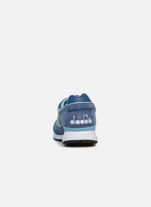 Baskets Diadora V7000 Italia Bleu vue droite