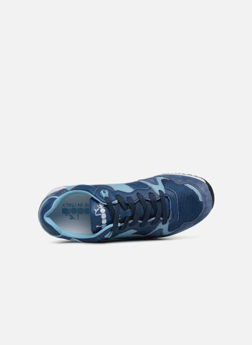 Baskets Diadora V7000 Italia Bleu vue gauche