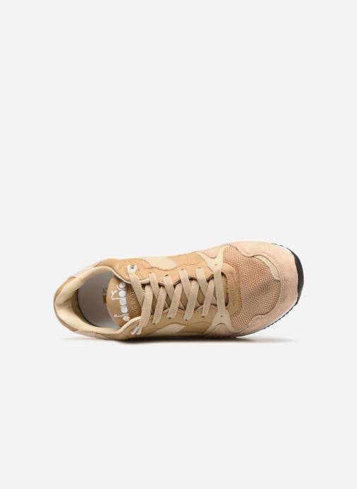 Sneaker Diadora V7000 Italia beige ansicht von links