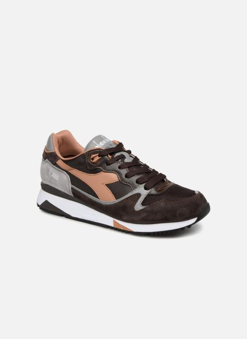 Trainers Diadora V7000 Italia Brown detailed view/ Pair view