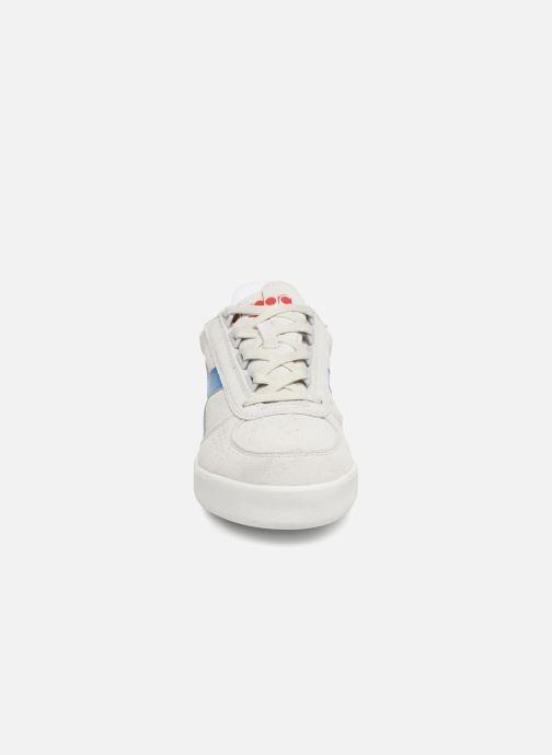 Baskets Diadora B.Elite Suede Blanc vue portées chaussures