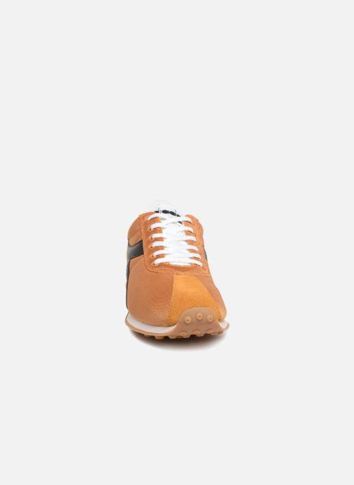 Baskets Diadora Sirio Jaune vue portées chaussures