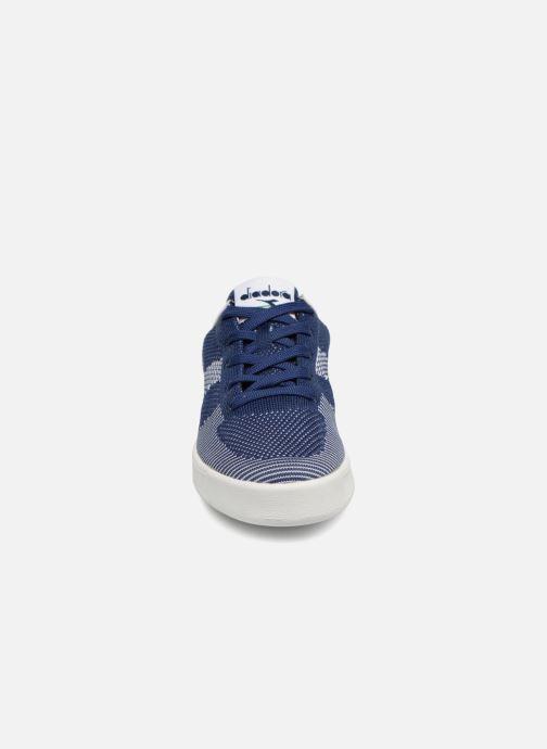 Baskets Diadora B.Elite spw weave W Bleu vue portées chaussures