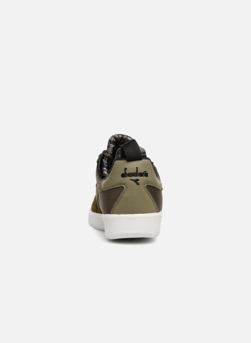 Trainers Diadora B.Elite camo socks Green view from the right