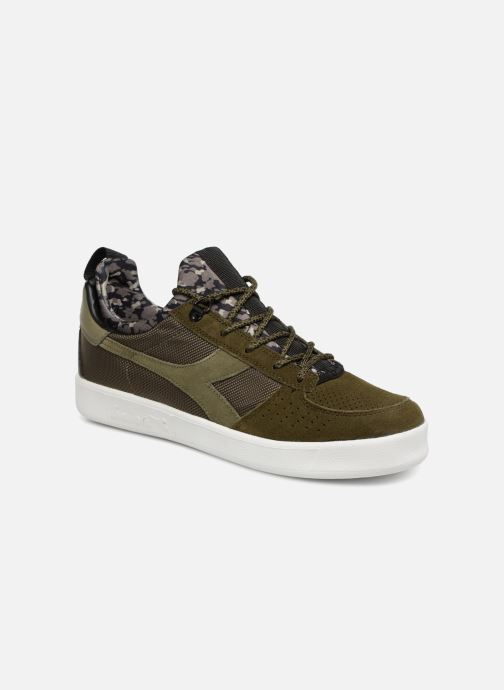 Baskets Diadora B.Elite camo socks Vert vue détail/paire