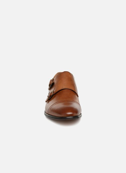 Mocassins Aldo Rizzalda Marron vue portées chaussures