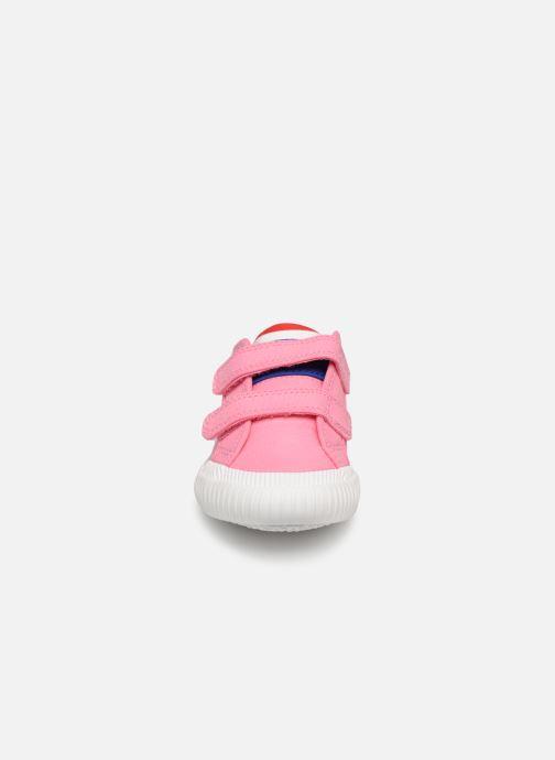 Baskets Le Coq Sportif Nationale INF Rose vue portées chaussures