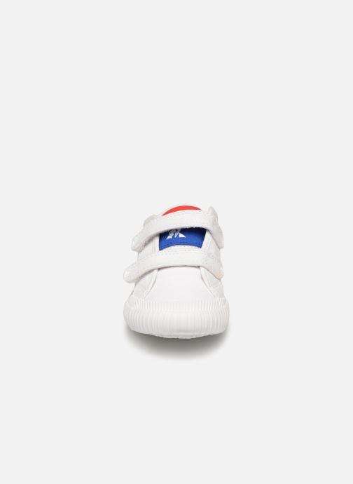 Baskets Le Coq Sportif Nationale INF Blanc vue portées chaussures