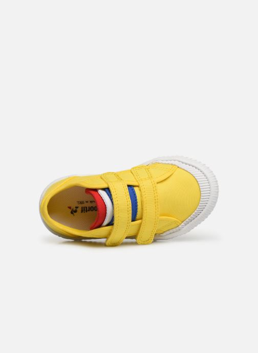 Trainers Le Coq Sportif Nationale INF Yellow view from the left