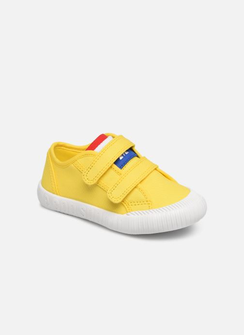 Trainers Le Coq Sportif Nationale INF Yellow detailed view/ Pair view