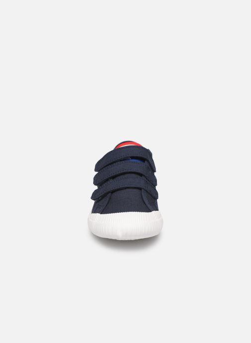 Baskets Le Coq Sportif Nationale PS Bleu vue portées chaussures