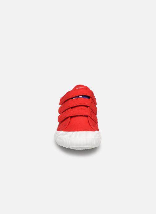 Baskets Le Coq Sportif Nationale PS Rouge vue portées chaussures
