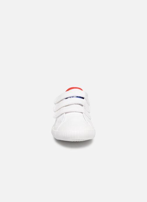 Baskets Le Coq Sportif Nationale PS Blanc vue portées chaussures