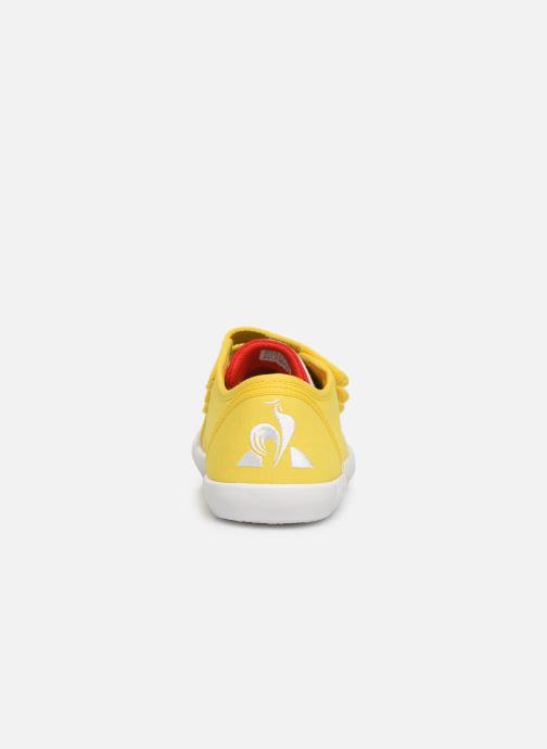 Trainers Le Coq Sportif Nationale PS Yellow view from the right